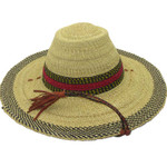 """African Straw Hat with Chin Strap #52-Fits 21 1/2-22 1/2"""" Head"""