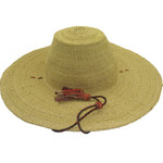 """African Straw Hat with Chin Strap #62-Fits 22""""-23"""" Head"""