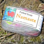 Handmade Felted Soap Namaste alt