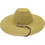 """African Straw Hat with Chin Strap #94-Fits 23 1/2""""-24 1/2"""" Head"""