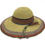 """African Straw Hat with Chin Strap #96-Fits 22 1/2""""-23 1/2"""" Head"""