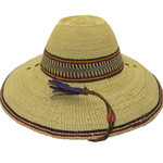 """African Straw Hat with Chin Strap #100-Fits 22 1/2""""-23 1/2"""" Head"""