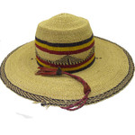 """African Straw Hat with Chin Strap #101-Fits 24""""- 25"""" Head"""