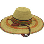 """African Straw Hat with Chin Strap #107-Fits 22""""-23"""" Head"""