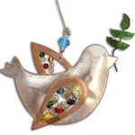 Handmade Metal Ornament Peace Dove
