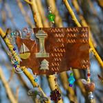 Handmade Metal Ornament Washington State outside