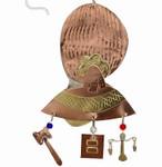 Handmade Metal Ornament Ruth Bader Ginsburg - back