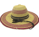 """African Straw Hat with Chin Strap #112-Fits 22 1/2""""-23 1/2"""" Head"""