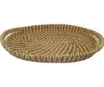 Pine Needle and Raffia Basket Oval Tray alt