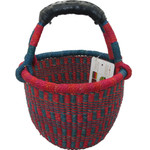 African Bolga Market Basket Small With Rubber Handle #5