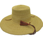 "African Straw Hat with Chin Strap #117-Fits 20""-21"" Head"