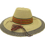 """African Straw Hat with Chin Strap #119-Fits 22 1/2""""-23 1/2"""" Head"""