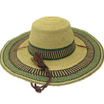 """African Straw Hat with Chin Strap #135-Fits 21 1/2""""-22 1/2"""" Head"""
