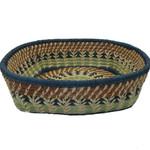 Pine Needle and Raffia Basket Micaela