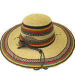 """African Straw Hat with Chin Strap #146-Fits 22""""-23"""" Head"""