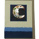 Handmade Greeting Card with Rainbow Moon Pin