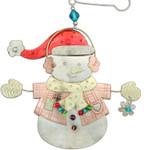 Handmade Metal Ornament Snowman