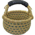 African Bolga Market Basket Small With Rubber Handle #8