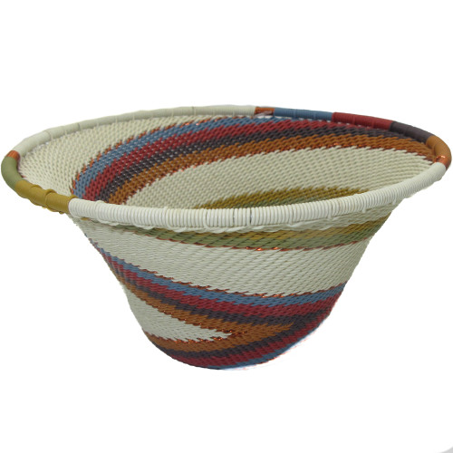 African Zulu Telephone Wire Basket #17