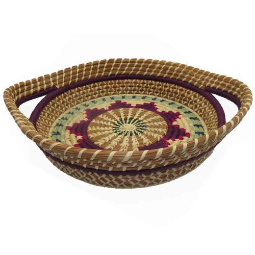 Pine Needle Basket Chumil Purple