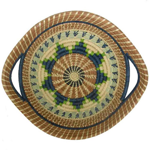 Pine Needle Basket Chumil Green