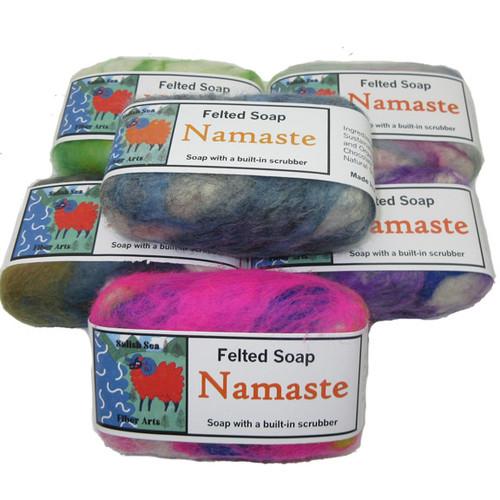 Handmade Felted Soap Namaste