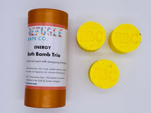 Bath Bomb Trio Energy - Lemongrass and Coconut