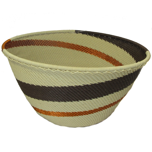 African Zulu Telephone Wire Basket #3
