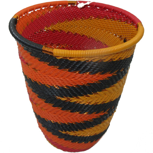 African Zulu Telephone Wire Basket #10