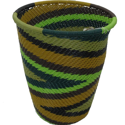 African Zulu Telephone Wire Basket #20