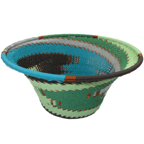 African Zulu Telephone Wire Basket #41
