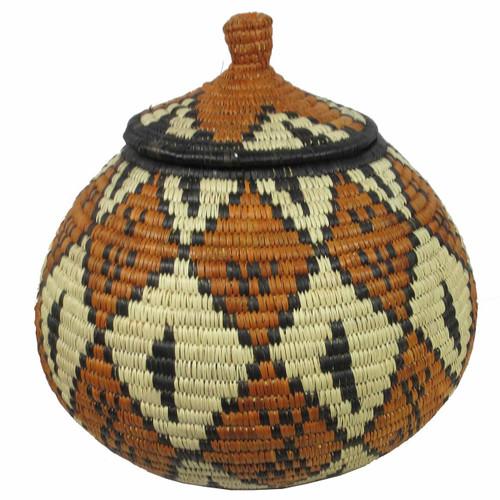 African Zulu Ukhamba Basket 43