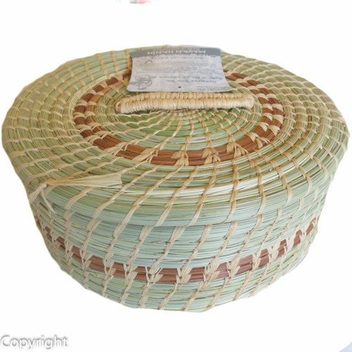 Pine Needle Tortilla Basket Small