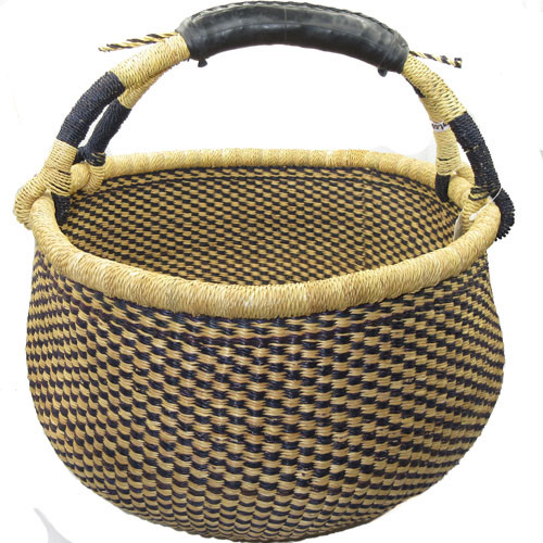 African Bolga Market Basket Large With Rubber Handle #3