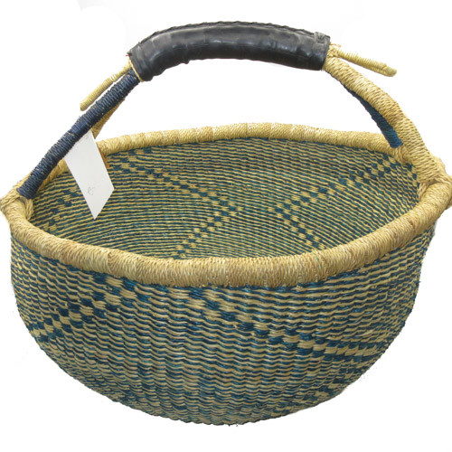 African Bolga Market Basket Large With Rubber Handle #5