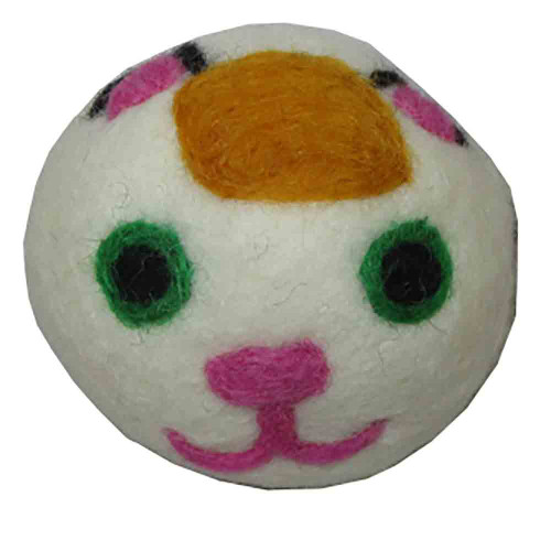 Felted Wool Dryer Ball Calico Cat