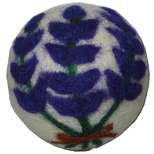 Felted Wool Dryer Ball Lavender Sprigs