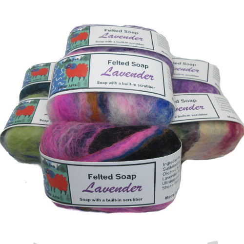 Handmade Felted Soap Lavender