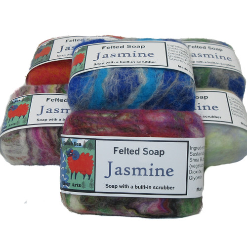 Handmade Felted Soap Jasmine