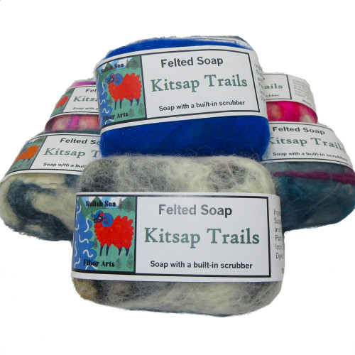 Handmade Felted Soap Kitsap Trails