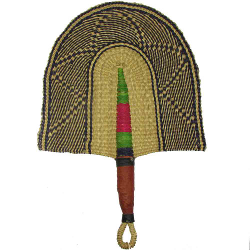 African Bolga Fan With Leather Handle #2