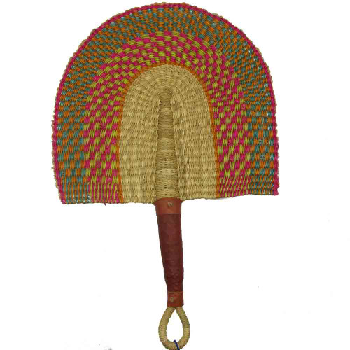 African Bolga Fan With Leather Handle #6