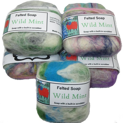 Handmade Felted Soap Wild Mint