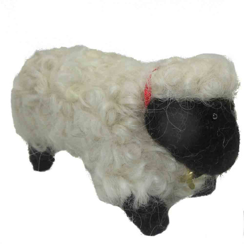 Felted Wool Ornament White Sheep