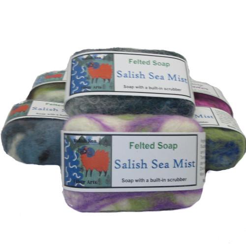 Handmade Felted Soap Salish Sea Mist