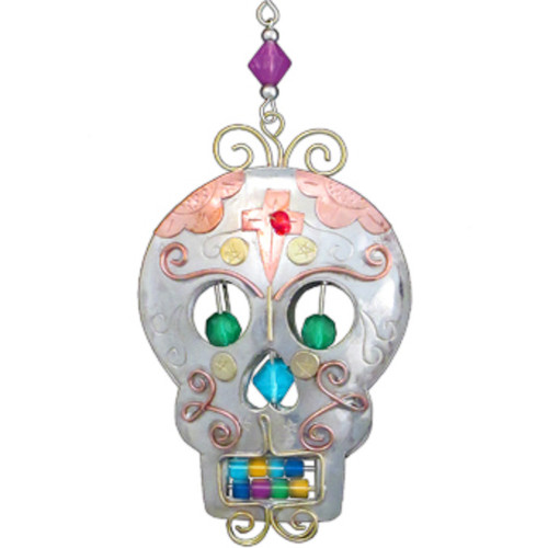 Handmade Metal Ornament Sugar Skull