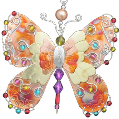 Handmade Metal Ornament Butterfly