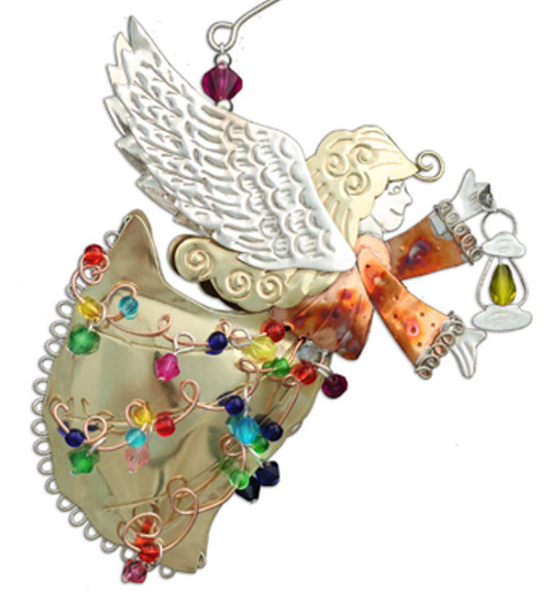 Handmade Metal Ornament Guiding Light Angel