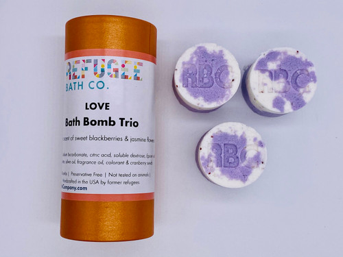 Bath Bomb Trio Love - Blackberry and Jasmine