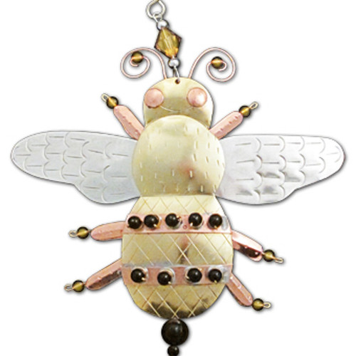 Handmade Metal Ornament Bumble Bee
